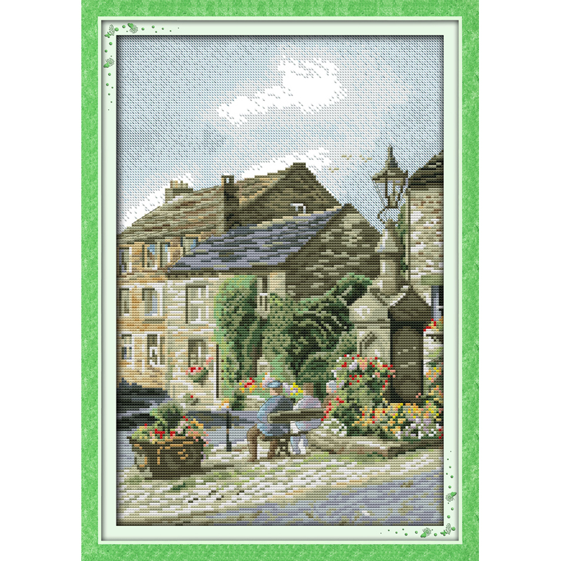 Everlasting love Leisure steet Chinese cross stitch kits ...