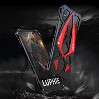 For Apple iPhone X Cover Case Luxury Hard Metal Aluminum Alloy Frame Armor Protective Back Phone Case for iPhone 10 Cover Capa