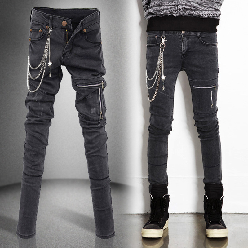 Aliexpress.com : Buy Water washed Slim fit black skinny jeans men