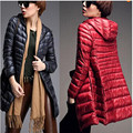 New Winter Coat Women lightweight Jacket and long sections Slim Hooded Parka White Duck Down down jacket manteau femme A1321