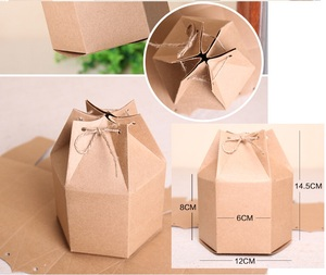 Image 5 - Wholesale Kraft Paper Box with Rope Small Gift Boxes for Boutique Baking Cookie/Candy Packaging Box Cardboard Carton 50pcs