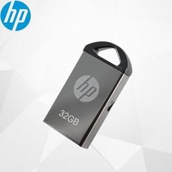 Original HP Mini unidad flash usb de metal pendrive 32GB 64GB 16GB flash pendrive con memoria usb para portátil coche V221W