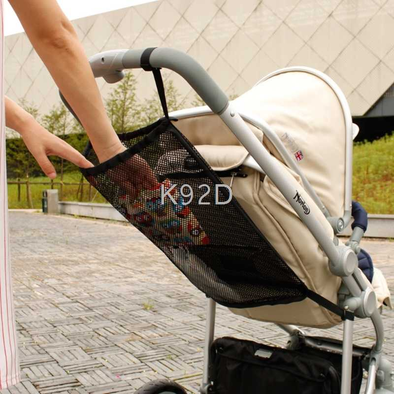 Baby Stroller Mesh Bag Practical Baby Infant Stroller Mesh Bottle Diaper Storage Organizer Bag Holder J12