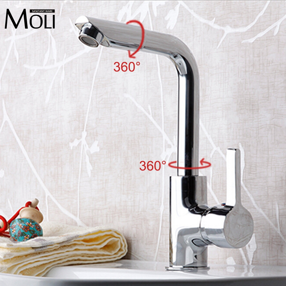 Bathroom font b Faucets b font Mixer 720 Degree Swivel Easy Wash for Basin Sink and