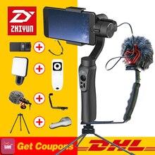 Zhiyun PÜRÜZSÜZ Q 3-Axis El Gimbal Sabitleyici Smartphone eylem kamera telefonu için Taşınabilir iPhone X Gopro Hero sjcam kam