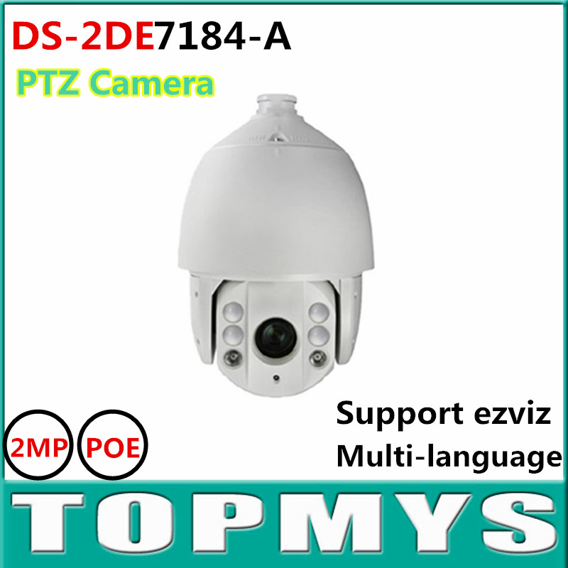 Free shipping 2MP Ultra low Light Smart PTZ Camera DS 2DE7184 A Speed Network Dome Camera