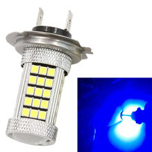 H7 2835 63 66 SMD LED PX26D Projector Fog Driving Light Bulb Blue Car Lamp Source Bright Than 33 SMD(China)