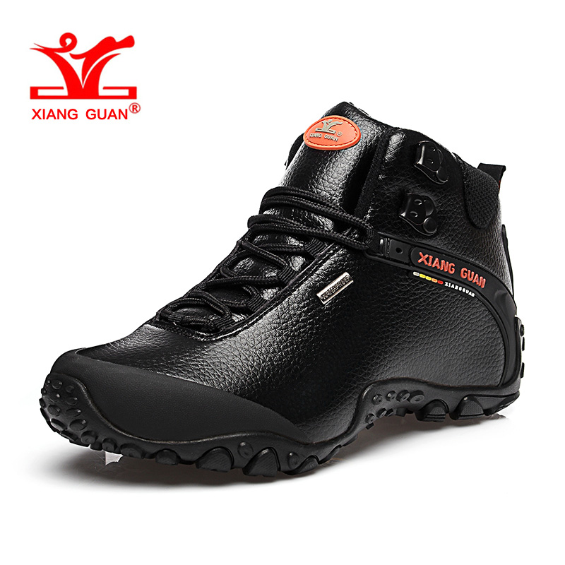 XIANG GUAN Men Hiking Shoes for Women High Top Trekking Boot Black Waterproof Sport Climbing Shoe Trend Outdoor Walking Sneakers цена
