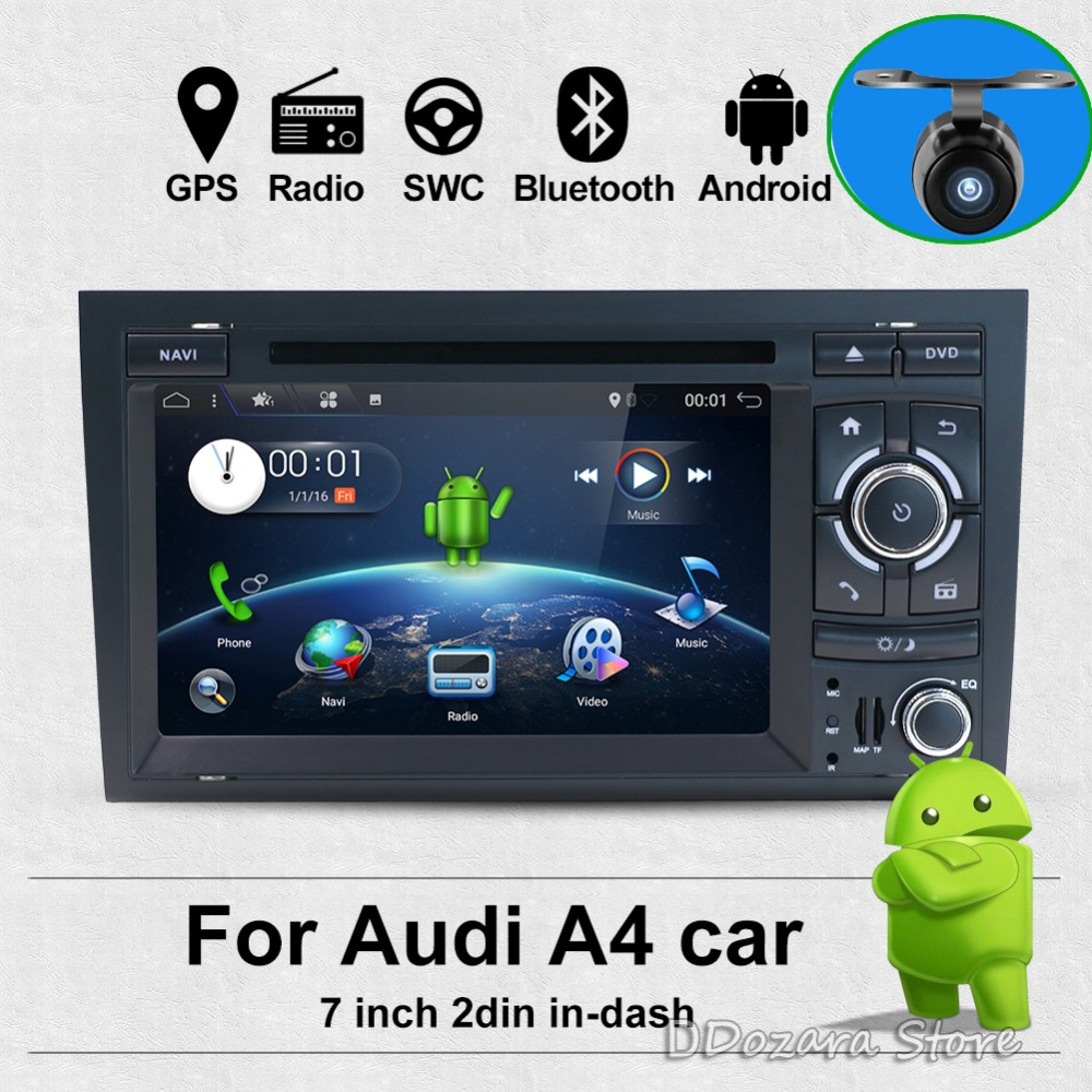 Android 7.1 Two Din 7 Inch Car DVD Player Multimedia For Audi/A4/S4 2003-2008 Canbus RAM 2G WIFI GPS Navigation Radio FM MAPS цена