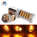 High Lumens 2pcs 12V 24V 2835 66 SMD Amber 1156 BA15S 1157 BAY15D Car LED Bulbs Front Turn Signal Lights Parking light Tail Lamp