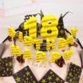Birthday Cake Candles  birthday English letter happybirthday birthday cake wave point