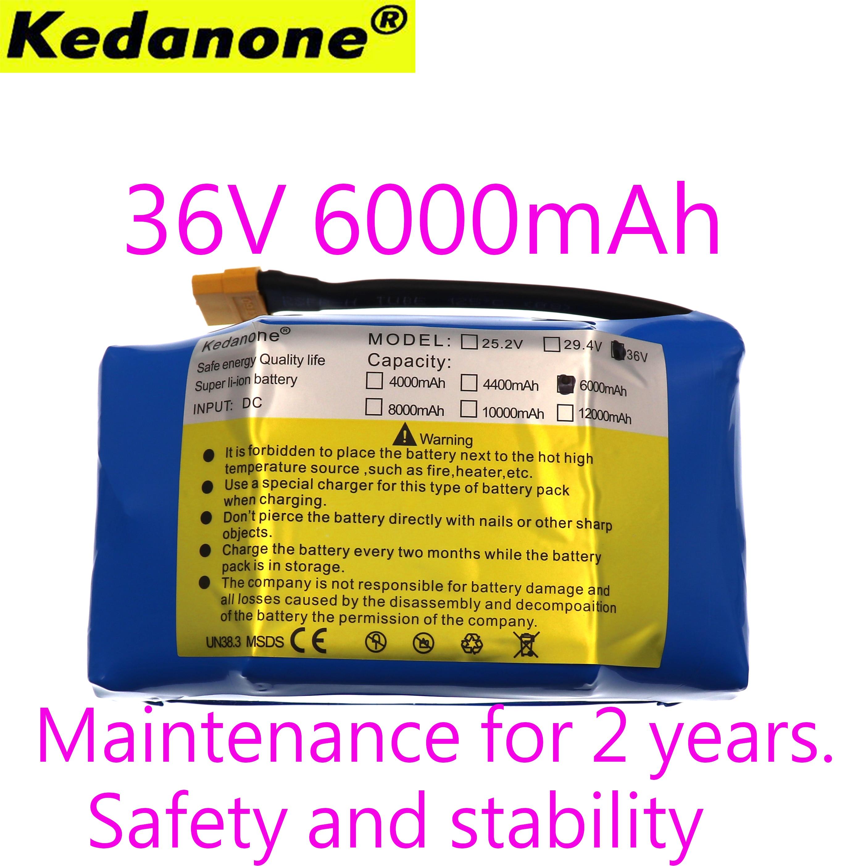 36 V 6AH 6000 mAh avec le débit élevé d'énergie 2 roues 10 S 2 P batterie électrique de lithium de scooter d'équilibrage pour l'ajustement de équilibrage d'individu 6.5