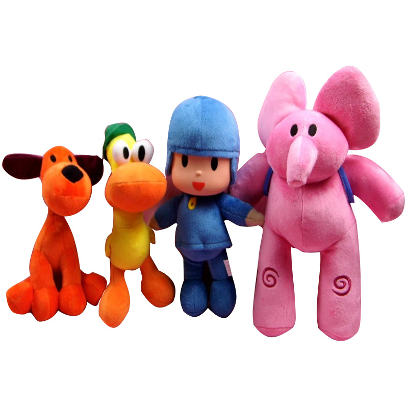 4pcs/lot Pocoyo Elly & Pato & POCOYO & Loula Plush Toys Soft Stuffed Animals Toys Brinquedos for Kids Children Birthday Gift