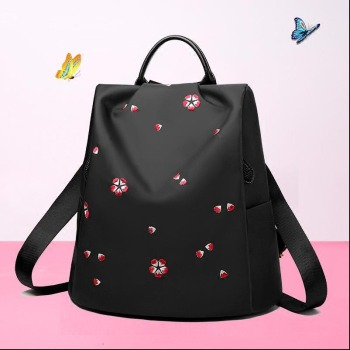 Cherry blossom embroidery backpack