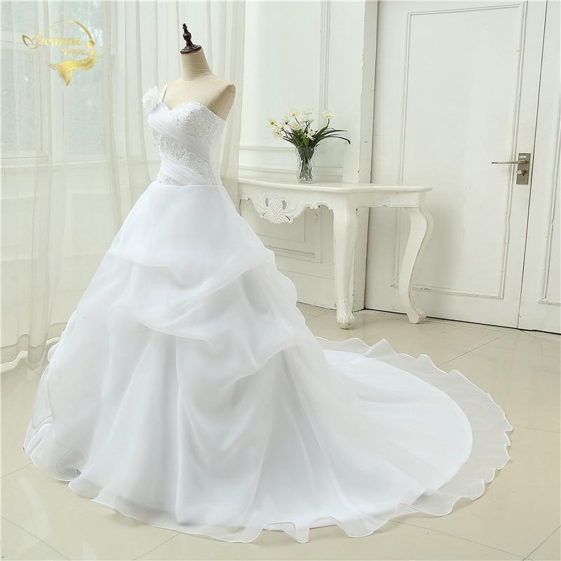 Vestido De Noiva Μια γραμμή ένα βραχιόλι - Γαμήλια φορέματα - Φωτογραφία 3