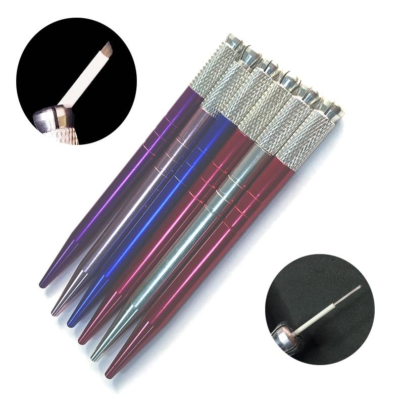 스테인레스 스틸 Tebori 펜 Microblading 펜 문신 기계 영구 메이크업 눈썹 문신 수동 펜 무료 배송