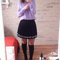 Japanese School Uniform Skirt High Waist JK Student Girls Solid Pleated Skirt Cute Cosplay Liz Lisa Lolita Skirt