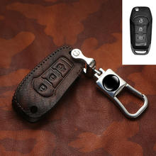 цена на New 3 Button Car Keychain ring Case Cover For Ford Focus 2 3 4 MK3 MK4 Edge Mondeo Fiesta Kuga Escape Ecosport Smart Car Style