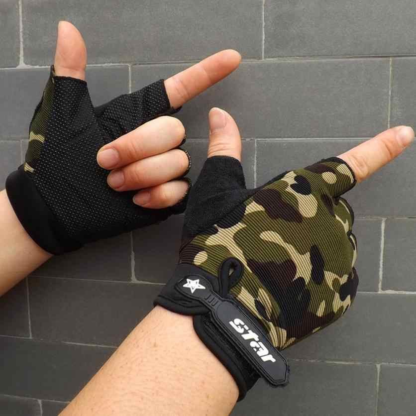 Мужская противоскользящая велосипедная одежда для фитнеса перчатки с половинными пальцами спортивные перчатки для тяжелой атлетики 0809