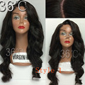 9A лучший перуанский девственница полный человеческих волос парики 150% волна плотности человеческого тела волос парики Glueless перед парики черных женщин