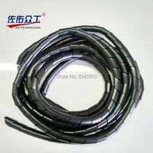 4 м помощь на всех работах 16 мм проволочная оплетка трубки бобины намотки кабельных линий к фиксированному принципу с кабельной стяжкой кабельного корпуса