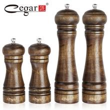 1 stück oder 4 teile/satz Klassische Eiche Holz Pfeffer Gewürzmühle Grinder Set Handheld Gewürz Mühlen Grinder Kochen Bbq-werkzeuge Set