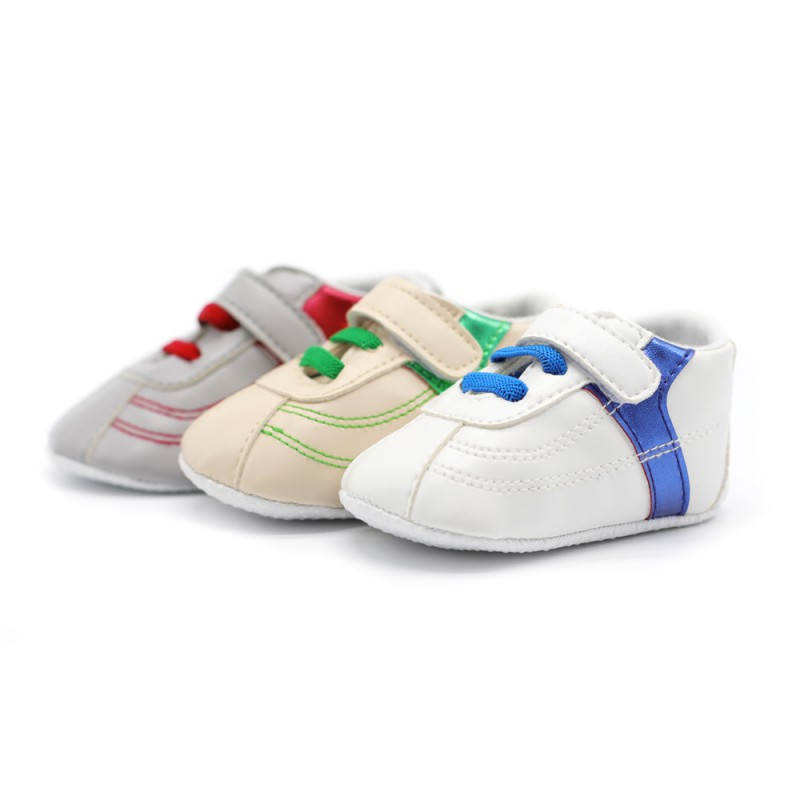 2018 New Baby Boy Girl Toddler Shoes Infant Non-Slip PU Leather Soft End Newborn 0-18M Sneakers Baby Shoes