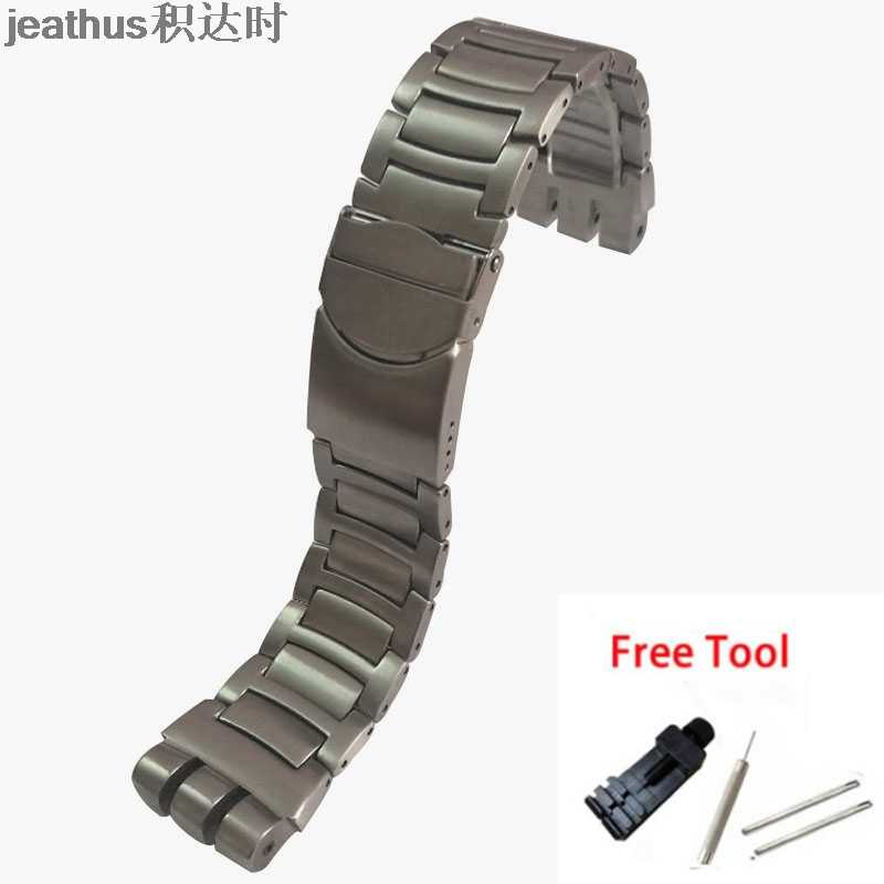 Jeathus Gelang Jam Pengganti Swatch Tali Baja YOS440 441 439 455 456 Solid Stainless Steel 23 Mm Yos Watch band