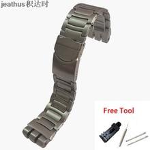 Jeathus مربط الساعة استبدال ل سواتش الصلب حزام YOS440 441 439 455 456 الصلبة الفولاذ المقاوم للصدأ سوار 23 مللي متر يوس حزام (استيك) ساعة