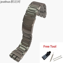 Jeathus watchband replacement for swatch steel strap YOS440 441 439 455 456 solid stainless steel bracelet 23mm yos watch band