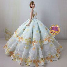 new arrvial baby girl christmas gift high quality limited collection elegant dress for barbie doll