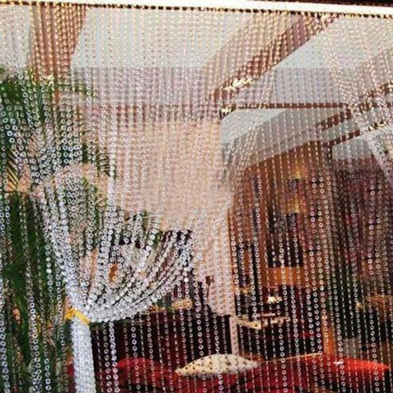 Home decor chic beaded curtain crystal divider decorative string 1030 meters crystal glass beads curtains window door crystal curtain for doors living room teraionfo