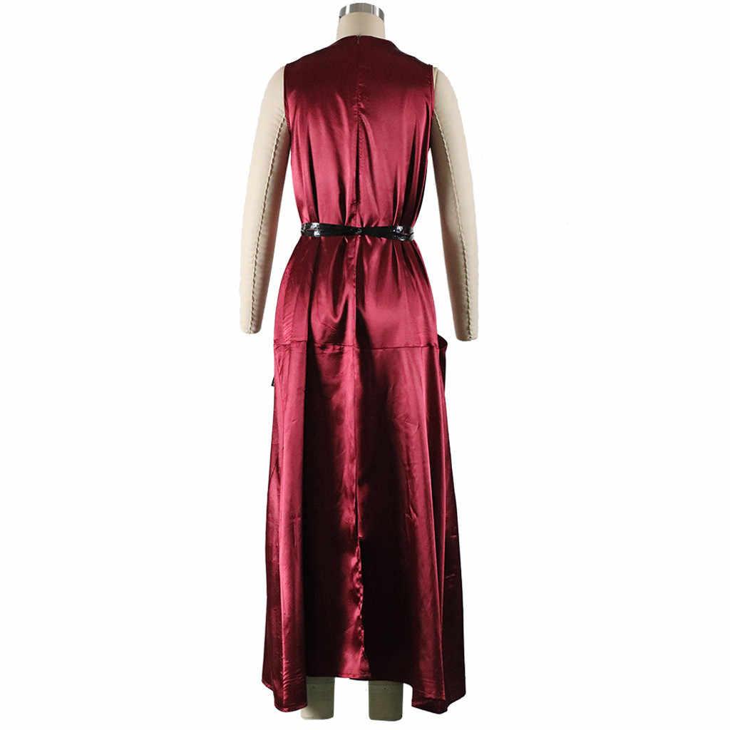 גלימת דה Soiree לונג אלגנטי שחור אבנט אדום שמלת ארוך זול אפליקציות שיפון ערב כותנות Vestido דה Festa # J30