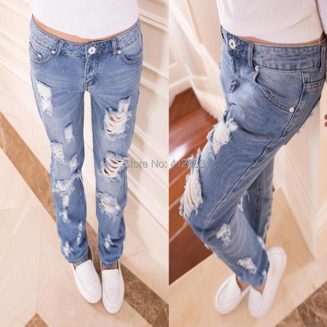 Aliexpress.com : Buy New 2014 fashion hole women jeans american ...