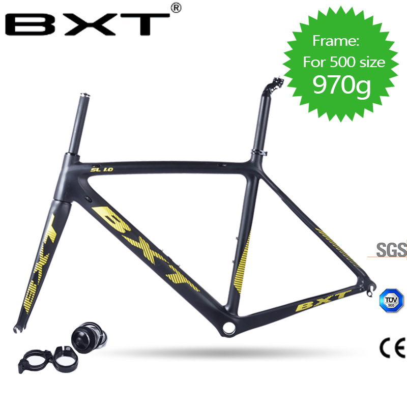 BXT2018 super leggero in fibra di carbonio telaio della bicicletta Di2 e meccanici di biciclette accessori UD opaco/lucido della bici della strada forcella + reggisella + auricolare