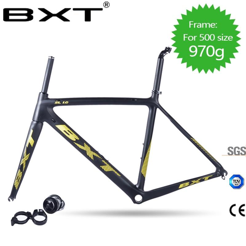 BXT2018 très léger vélo en fibre de carbone cadre Di2 et mécanique accessoires vélo UD mat/brillant route fourche + tige de selle + casque