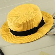 Família jogo Fita mãe crianças Palha praia chapéu Panamá Velejador sun caps  chapéus de verão para crianças das mulheres palha chapéu snapback gorras    3 em ... d04dcbad828