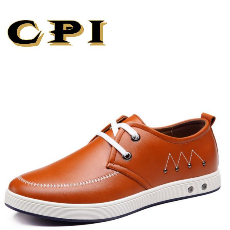 CPI 2017 New Men's casual leather shoes Comfortable Casual Shoes Oxfords New Design Breathable Men Flats Leather Shoes DD-25 new brand cow suede men shoes genuine leather casual shoes breathable comfortable men oxfords shoes fashion men flats 2 5a