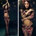 Preto bordado flor dress sessão de fotos da gravidez beach dress maternidade longo dress grávida fotografia adereços de roupas extravagantes