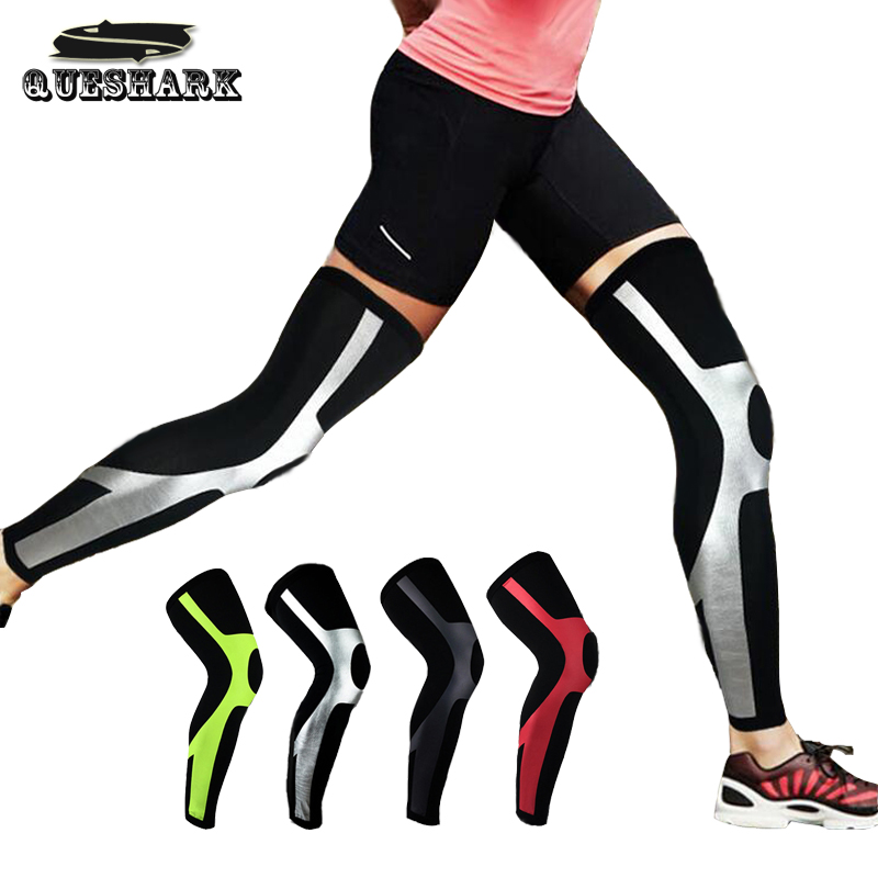 Compression Running Leggings - Football Shinguard Cycling Leg Warmers