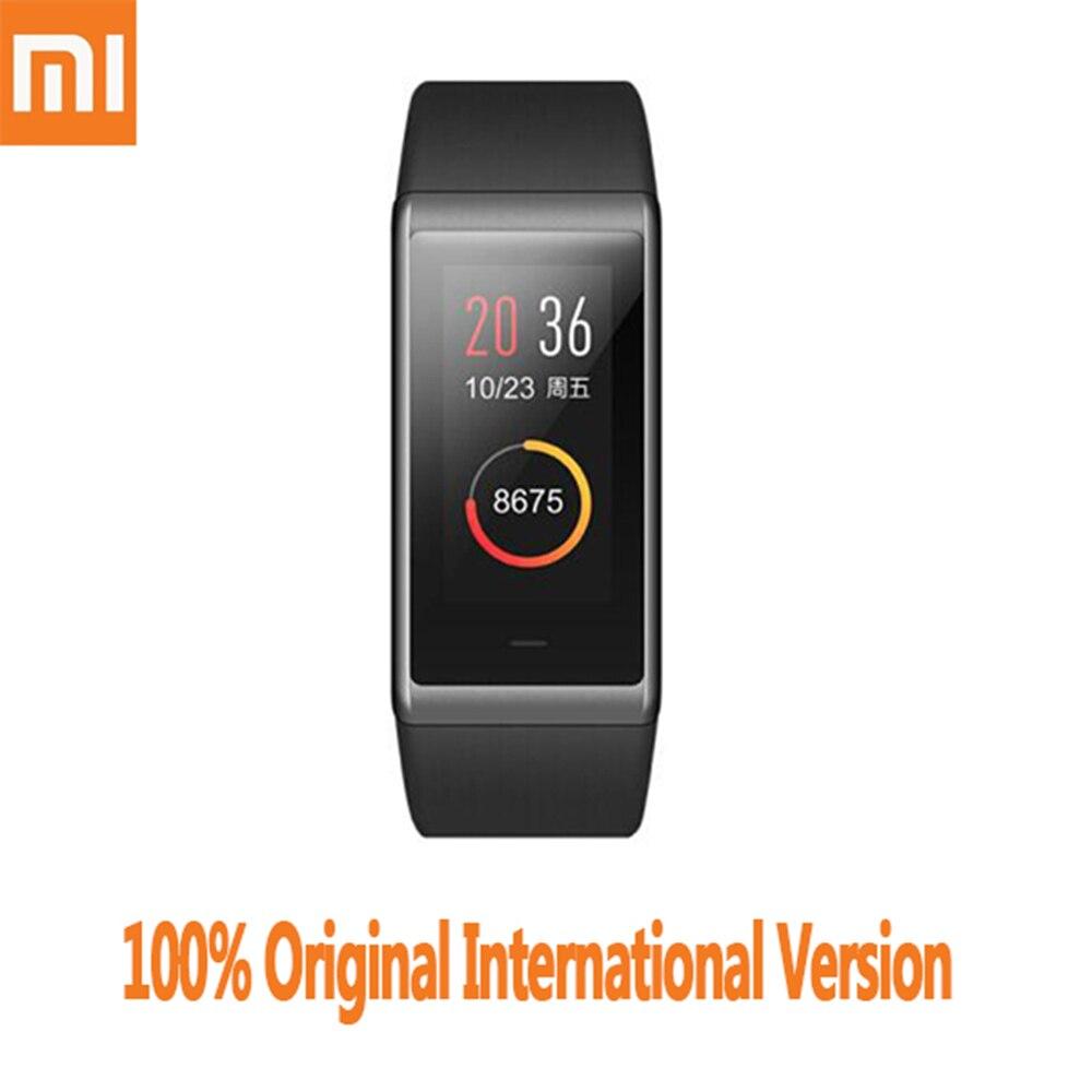 Оригинальный Xiaomi AMAZFIT Cor Smartband международная версия Bluetooth 4,1 ips красочные Экран 50 м Водонепроницаемый сердечного ритма