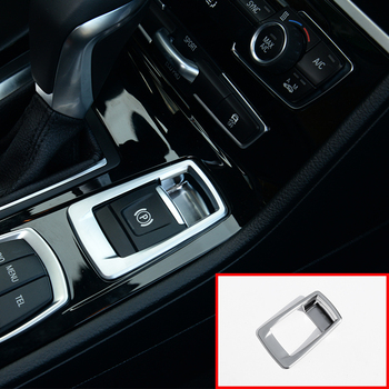 For BMW 218i Gran Tourer F46 Car Accessories ABS Chrome Electronic Handbrake Button Cover Trim 1pc 2015-2017 image