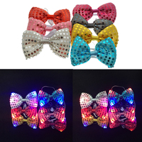 2019 Rushed Gafas Led Direct Sale 100pcs Male Female Sequins Led Neck Tie Light Up Bow Birthday Wedding Christmas Party Supplies