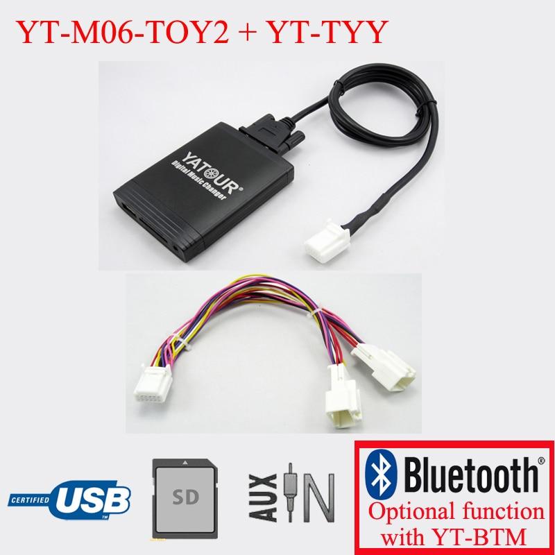 Lecteur MP3 de voiture Yatour pour Toyota Vitz Camry RAV4 Venza Sienna Highlander 6 + 6pin radios