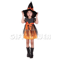 Children Girl Performances Clothes Kids Halloween Costume Party Dress Mesh Pretty Witch Costumes For Girls 3