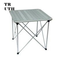 Подлинный открытый складной алюминиевый столик cmarte кемпинг таблиц ultraportability 70*70*70 см