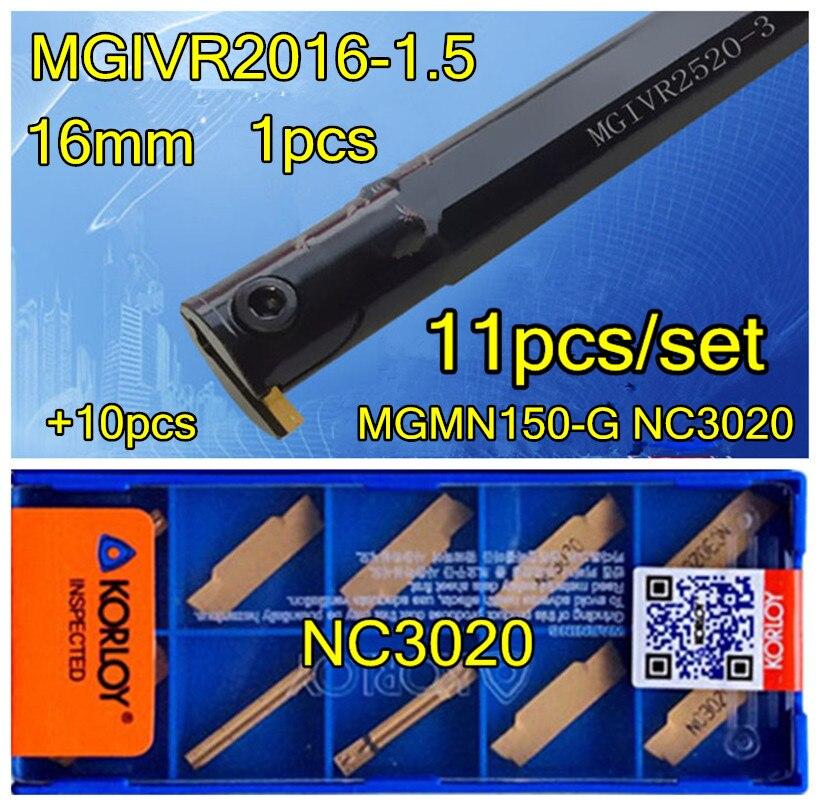 MGIVR2016 1 5 Inner hole slot CNC Turning tool 1pcs 10pcs MGMN150 G NC3020 11pcs set