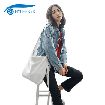 Hylhexyr Solid Women's Shoulder Messenger Bags Handbag Travel Large Capacity Casual Fashion Canvas Shopping Bag With Zipper