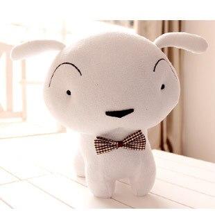Pernycess Lovely Crayon Shin-chan white Lucky Shiro 25cm hold pillow stuffed doll boy birthday gift free shipping