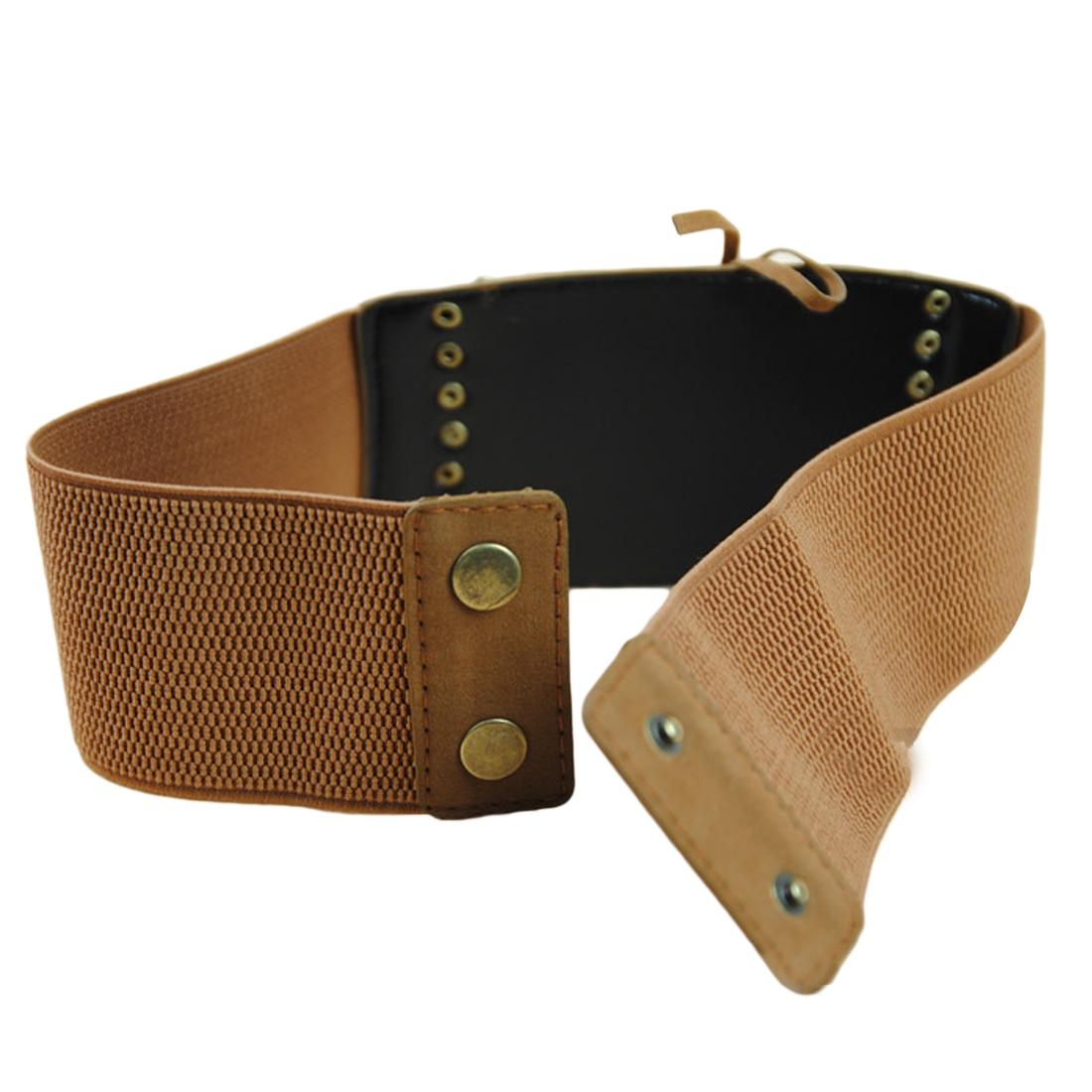 US Stock Womens Lady Skinny Buckle Waist Belt Stretchy Corset Waistband Belt